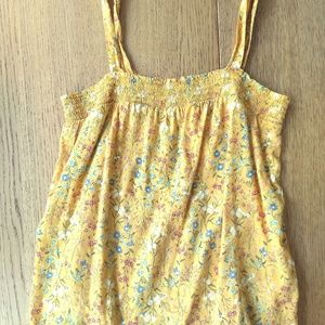 Old Navy Yellow Floral Swing Top XS